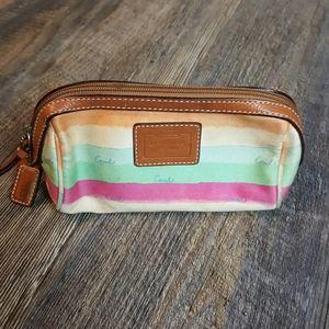Coach makeup bag canvas leatherware